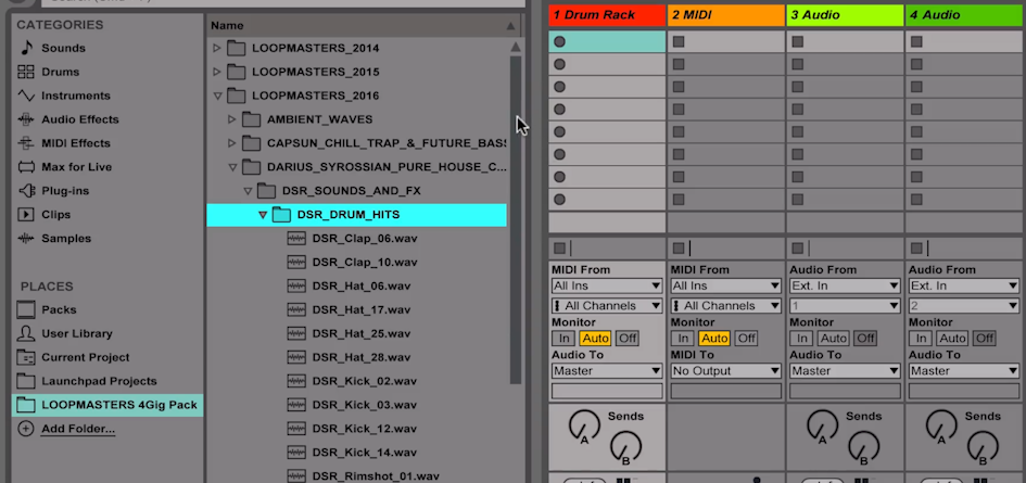 Loopmasters // Ableton Drum Racks – Novation